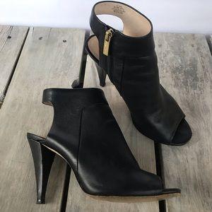 Louise Et Cie Sabal Black Peep Toe Bootie Size 9.5